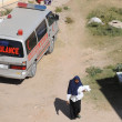 Ambulance.EdnAdUniversity Hospital is situated in Hargeisa, Republic of Somaliland — Stock Photo #40916947