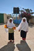 第一次学校阳光的哈尔格萨. — 图库照片