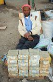 Street money changers of money — Stock Photo