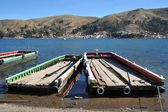 Ferry service on lake Titicaca — Stock Photo