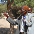 Somali men in the Complex of caves — Stock Photo
