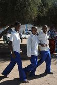 Somalilerle sıkı hargeysa şehir sokaklarında. — Stok fotoğraf