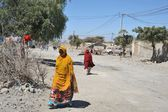 Somalis in the streets of the city of Borama. — Stock Photo