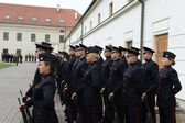 The swearing-in of the Lithuanian military Academy. — Stock Photo