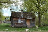 Wooden house in manor. Polenovo — Stock Photo