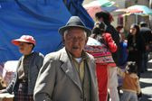 The city  Potosi. Local inhabitants on the city streets — Stock Photo