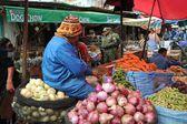 Women selling on the street of La Paz. — ストック写真