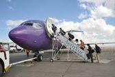 Aircraft at the airport of La Paz. — Stock Photo