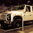 Stockfoto: Range Rover Defender car on display
