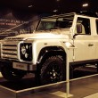 Foto Stock: Range Rover Defender car on display