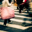 Crowd on zebra crossing street — Stock Photo #17121155
