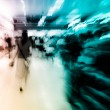 City on business walking street blur motion — Stock Photo #17128059
