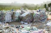 Plastic film recycle — Stock Photo