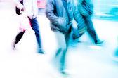 Ciudad peatonal en carretera — Foto de Stock