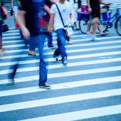 Walking on big city street — Foto Stock
