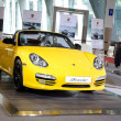 Porsche yellow boxster sport car - Stock fotografie