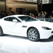 Aston Martin V8 Vantage S sport car on display - Stock Photo