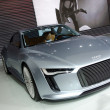 Audi E-tron concept car on display - Foto de Stock