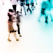 Abstract business rushing lobby blur motion — Stock Photo