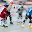 Stock Photo: Child playing rollerblade