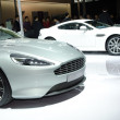 Aston Martin Virage sport car on display - Foto de Stock