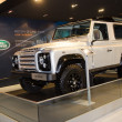 Постер, плакат: Range Rover Defender car on display