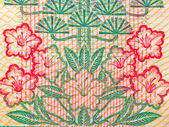 Chinese money rmb background flower macro texture — Stock Photo