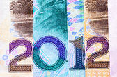 New year 2012 financial background — Stock Photo