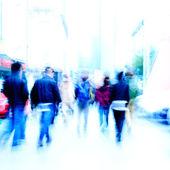 City pedestrian on road — Stock Photo