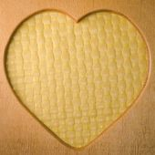 Wood heart shape frame — Foto Stock