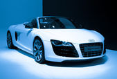 Audi R8 Spyder car on display — Stock Photo