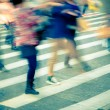 Crowd on zebra crossing street — Foto de Stock
