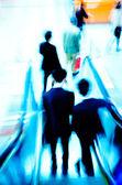 City passenger on elevator at subway station — Stock Photo