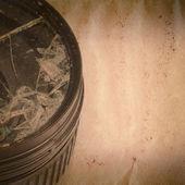 Broken DSLR camera lens old grunge paper texture — Stock fotografie