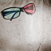3D glasses old grunge paper texture — Stockfoto