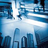 Urban modern city business life — Stock Photo
