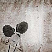 Textura de papel de grunge velha música do fone de ouvido — Fotografia Stock