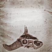 Texture carta di demone toro cranio vecchio grunge — Foto Stock