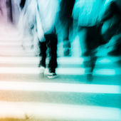 Walking on big city street — Stock Photo