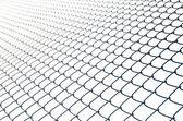 железный забор провода изолированные — Стоковое фото