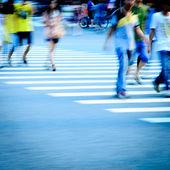 Pedestrians in city street — Stock Photo