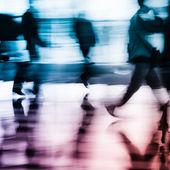 抽象的な背景を走らせている市ビジネス — ストック写真