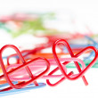 Heart shape paper clip — Stock Photo