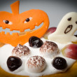 Halloween cake background — Stock Photo