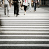 Pedestrians in city street — Stock Photo