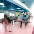 Blur passenger walk at subway station — Foto Stock