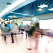 Blur passenger walk at subway station — 图库照片
