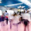 Blur passenger walk at subway station — Stock fotografie