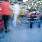 Passenger walk at subway station — Stock Photo