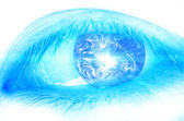 Earth in eye — Stock Photo